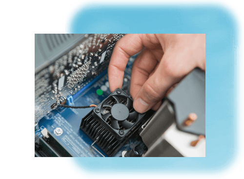When cleaning your computer's fans, prevent them from turning to avoid damage